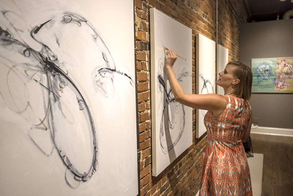 Beth Inglish Artist Nashville Live Painting Abstract Art